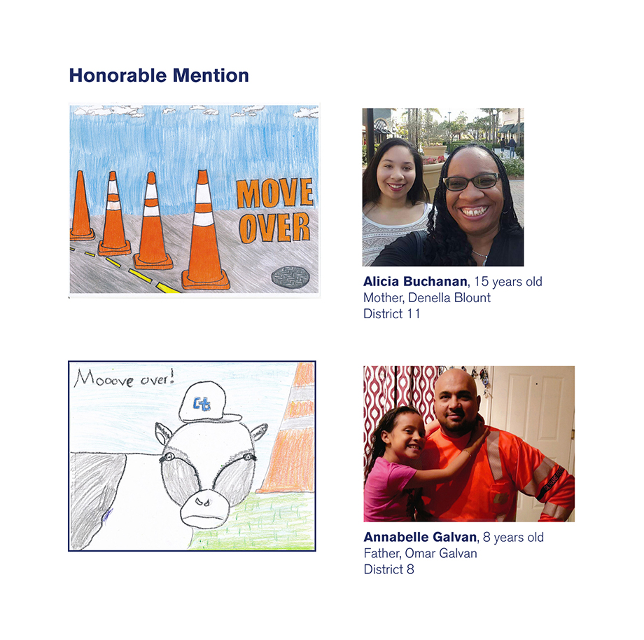 Honorable Mention winners